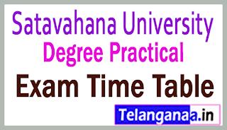 SU Degree I II III Year Practical Exam Time Table
