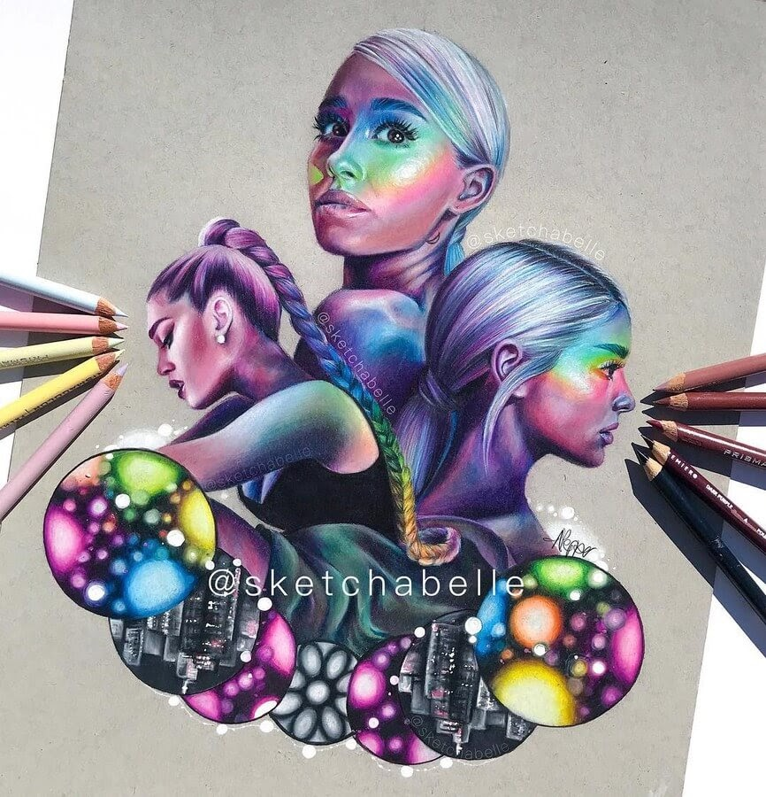 10-Ariana-Grande-Annabel-Portrait-Drawings-www-designstack-co