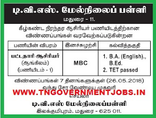 tvs-hr-sec-school-madurai-recruitment-2018