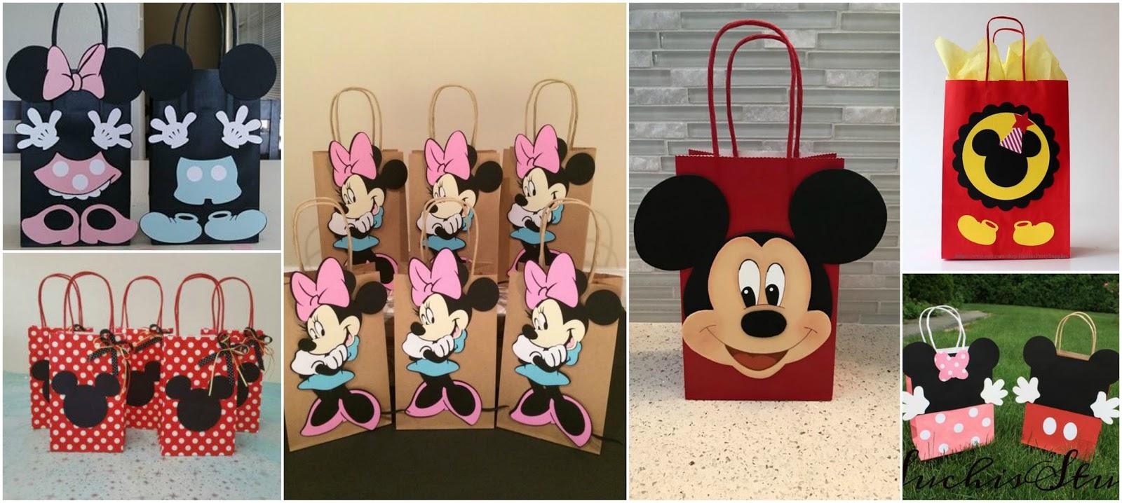 4817ebe1b Aprende cómo hacer bolsas de Mickey y Minnie mouse para cumpleaños