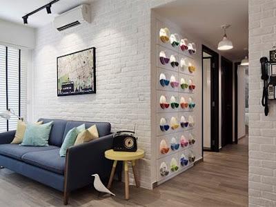 Trang trí thiết kế bên trong ngôi nhà sống bằng tường gạch trắng đem đến không gian đẳng cấp