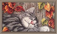 машинная вышивка.кошки