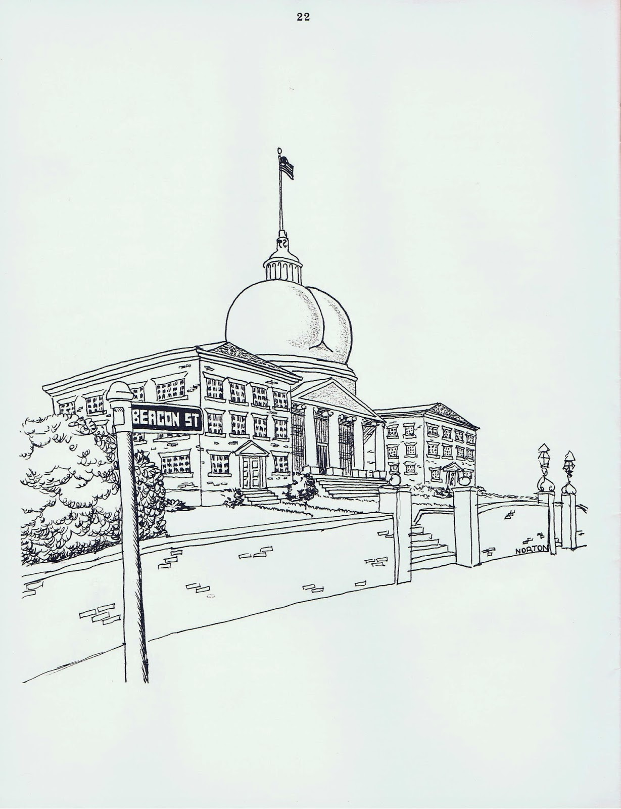 Yahoo, Commencement 1966 edition cartoon, depicts Capitol dome as ass