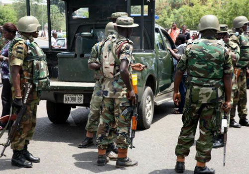 Image result for Two suicide bombers killed as Army foils attack in Borno