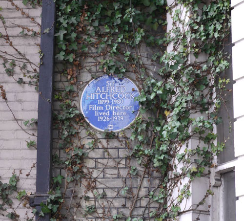 Britain's Blue Plaques Alfred Hitchcock