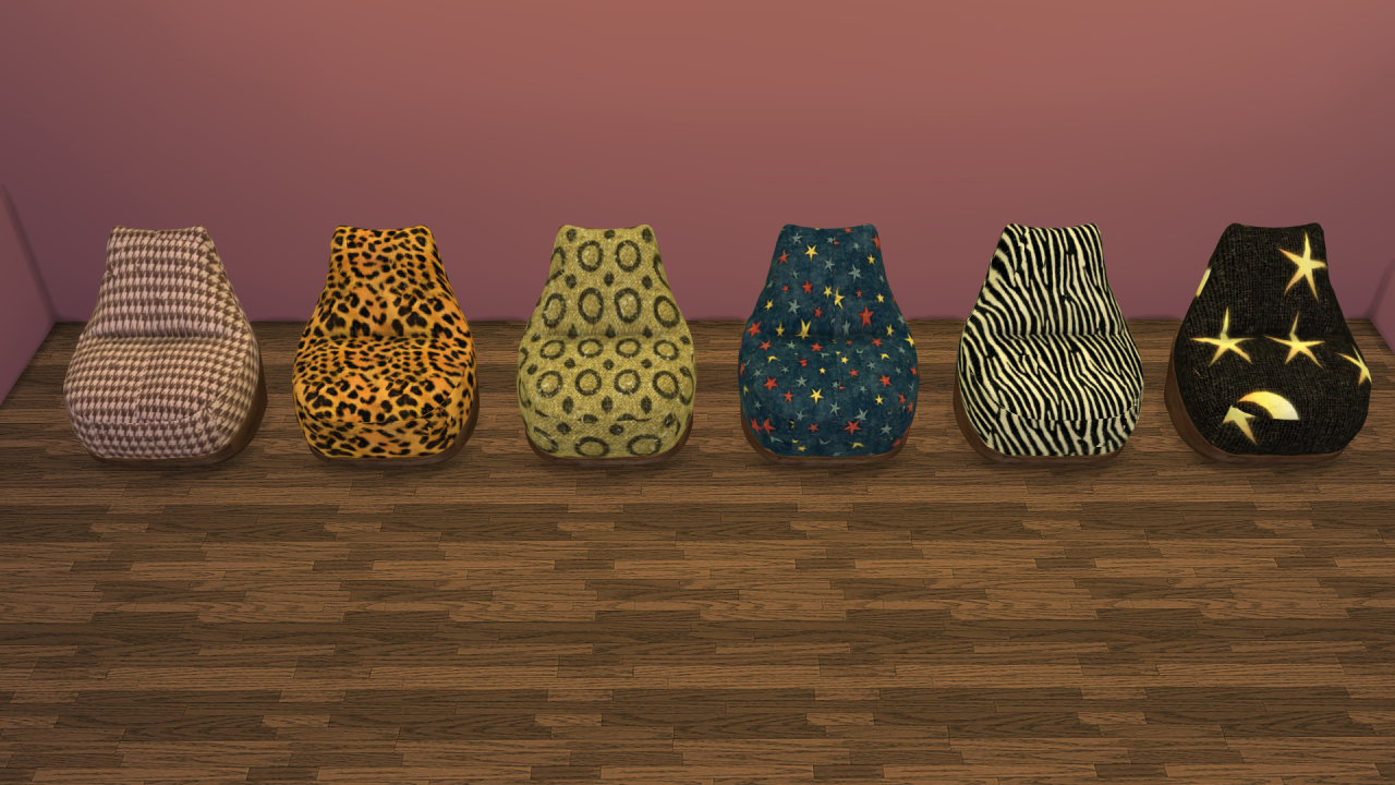 My Sims 4 Blog Bean Bag Chair Recolors By Sims4leo