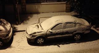 καταιγίδες και χιόνια