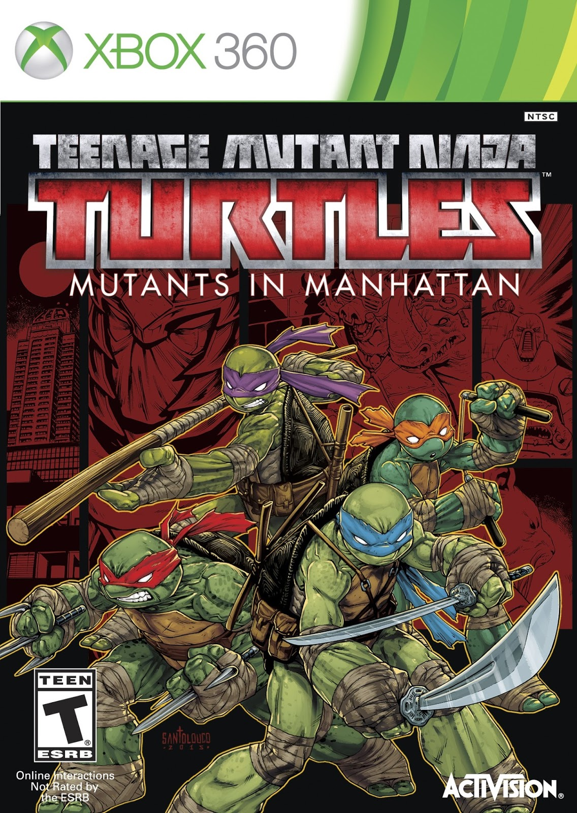 Teenage Mutant Ninja Turtles Mutants In Manhattan XBOX 360 ESPAÑOL