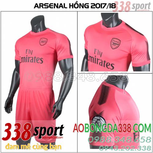 áo arsenal màu hồng training mùa giải 2017 2018