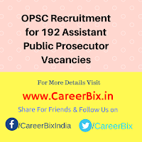 OPSC Recruitment for 192 Assistant Public Prosecutor Vacancies