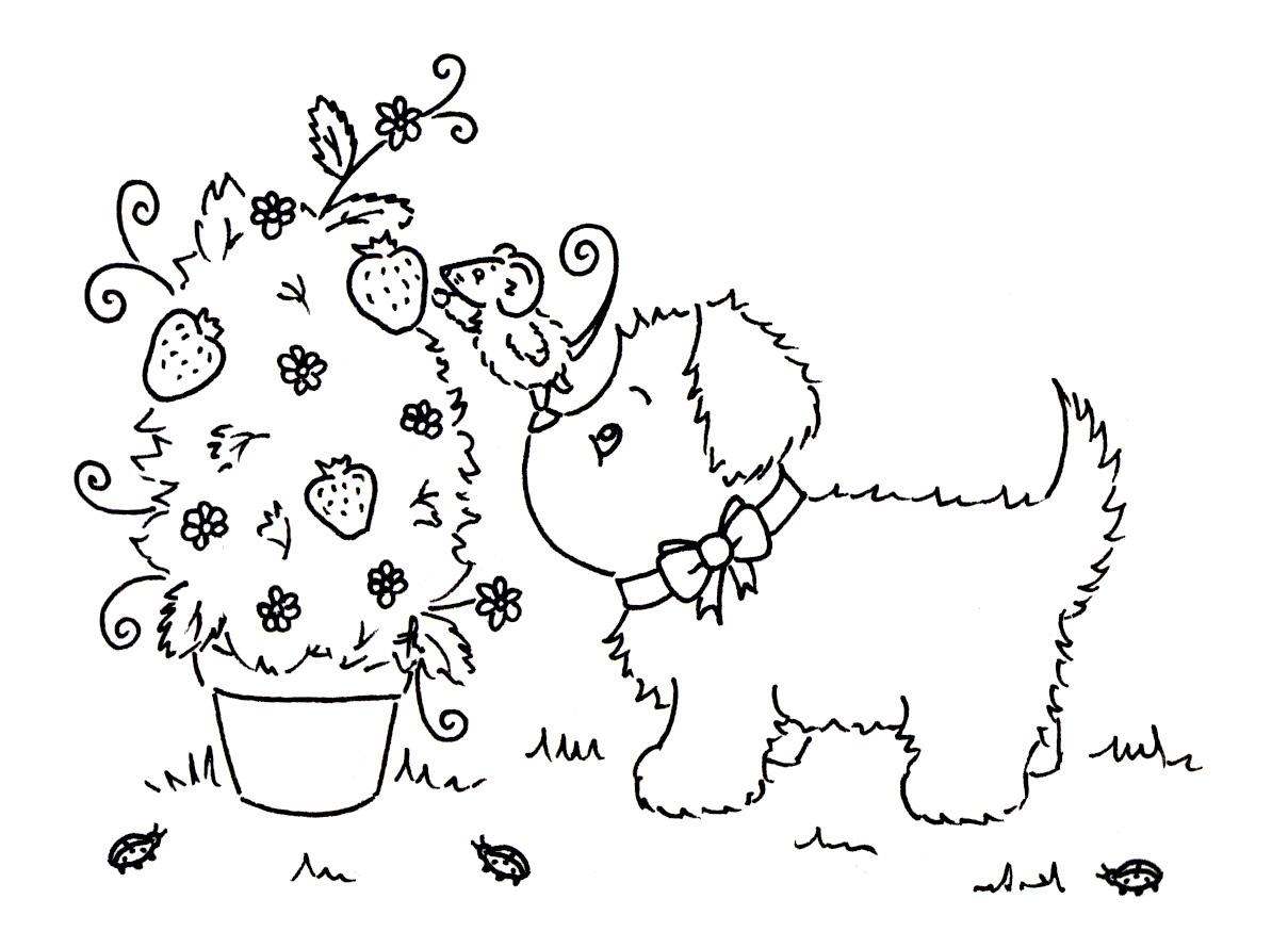Sliekje Digi Stamps With Puppy S Help