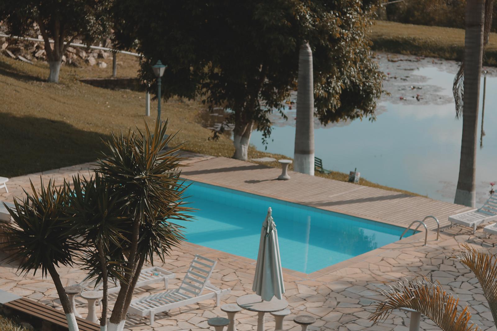 vista piscina pousada jatobá