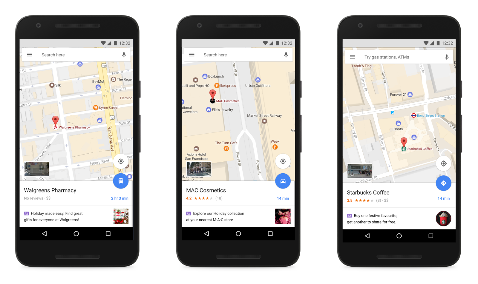Promoted Places Pins in Google Maps on Android