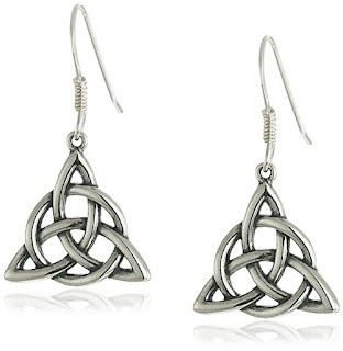 Sterling Silver Celtic Triquetra Knot Triangle Drop Wire Earrings $11 (reg $29)