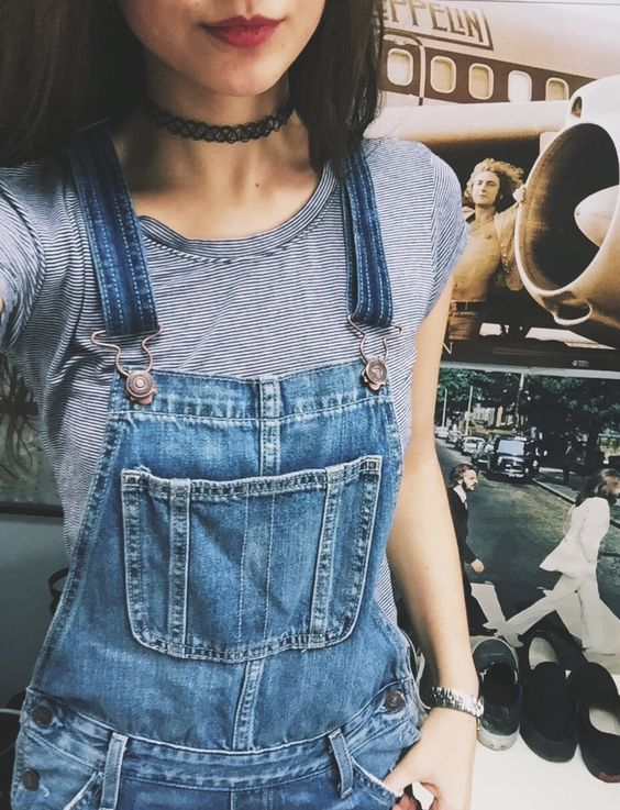 Chic Jeans Dungaree Outifit