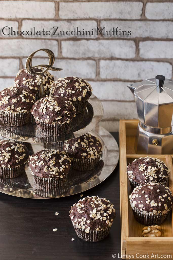 Healthy chocolate zucchini muffins recipe