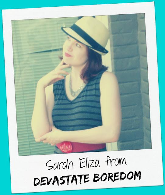Friday Frivolity Host Sarah Eliza from Devastate Boredom