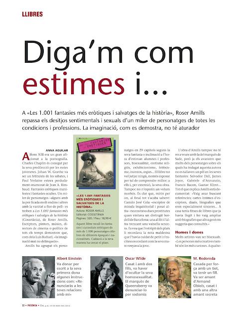 Entrevista a Roser Amills en la revista PRESÈNCIA, 6 de mayo 2012