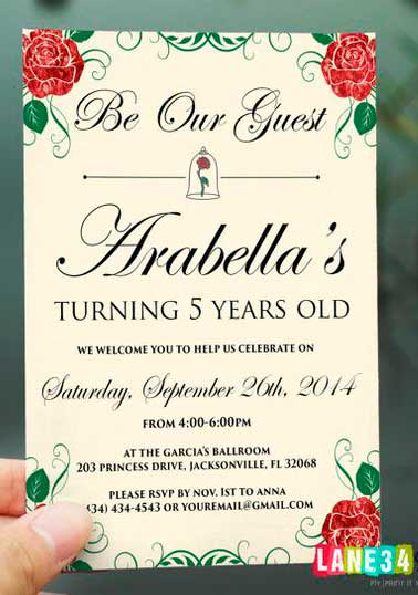 Convite simples festa de debutante
