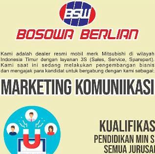 Lowongan Kerja Marketing Komunikasi di Bosowa Berlian