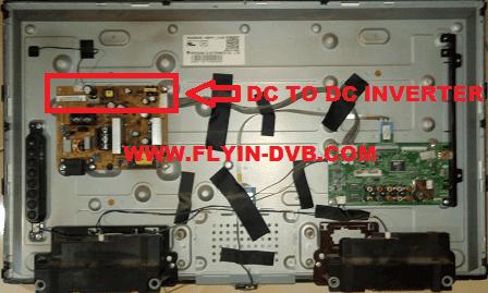 Letak rangkaian DC to DC inverter LG 22LN5100