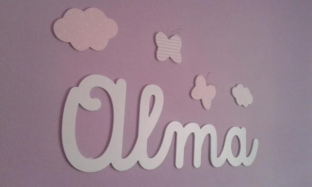 nombres y siluetas para decorar habitaciones  infantiles