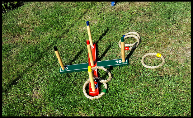 Quoits game is ideal fun for the family in the garden