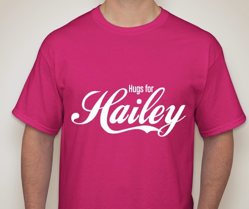 Hugs for Hailey shirts NOW ON SALE!!!