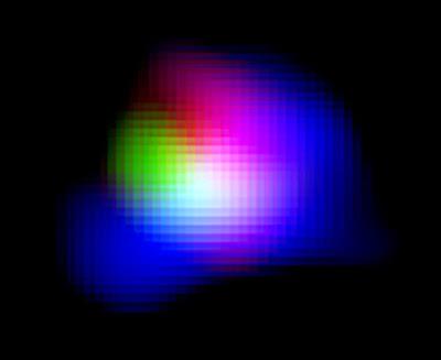 Colour composite image of distant galaxy SXDF-NB1006-2