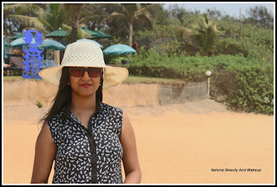 travel blogger anamika at Calangute Beach, North Goa