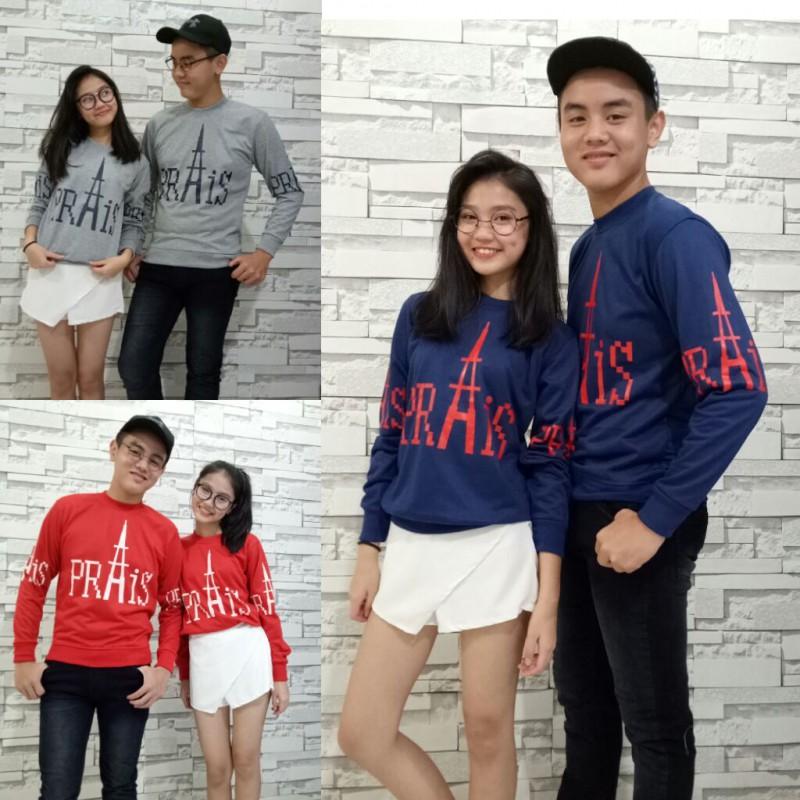 Jual Online Sweater Paris Prais Murah Jakarta Bahan Babytery Terbaru