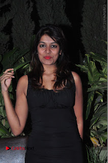 Actress Kavya Kumar Stills in Black Short Dress at F Club pre soft Launch  0012.JPG