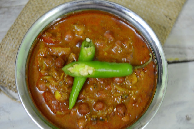 Black Channa Masala | Kale Channa Masala | Side dish for Roti/Chapathi