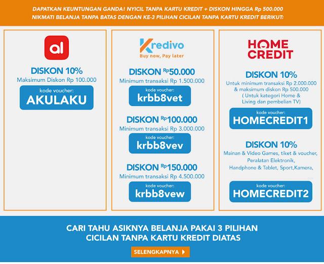 Nyicil Tanpa Kartu Kredit & Diskon Hingga Rp 500.000