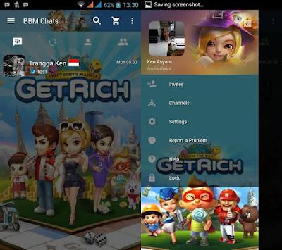BBM MOD Tema Get Rich v3.0.0.18 Apk Terbaru