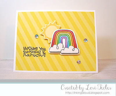 Wishing You Sunshine and Rainbows card-designed by Lori Tecler/Inking Aloud-stamps and dies from Paper Smooches