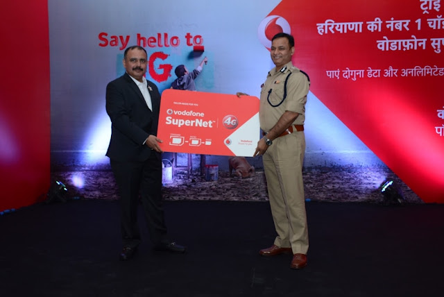 Photo Caption: From Right to left- Mohit Narru Business Head–Haryana, Vodafone India & Shri O P Singh, Inspector General of Police, Hisar