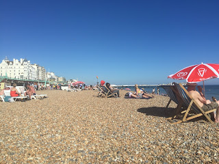 Brighton UK summer beach