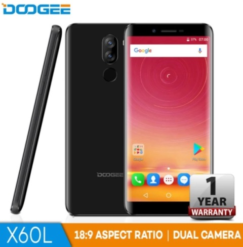Doogee X60L Arrives in PH; 18:9 Screen, Dual Cameras for Only Php4,299