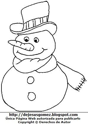 Pagina Educativa Madre Creativa Dibujos De Muneco De Nieve Para Colorear Pintar Imprimir Divertido muñeco de nieve sonriente aislado con sombrero y nariz de zanahoria mostrando algo con sus manos. dibujos de muneco de nieve