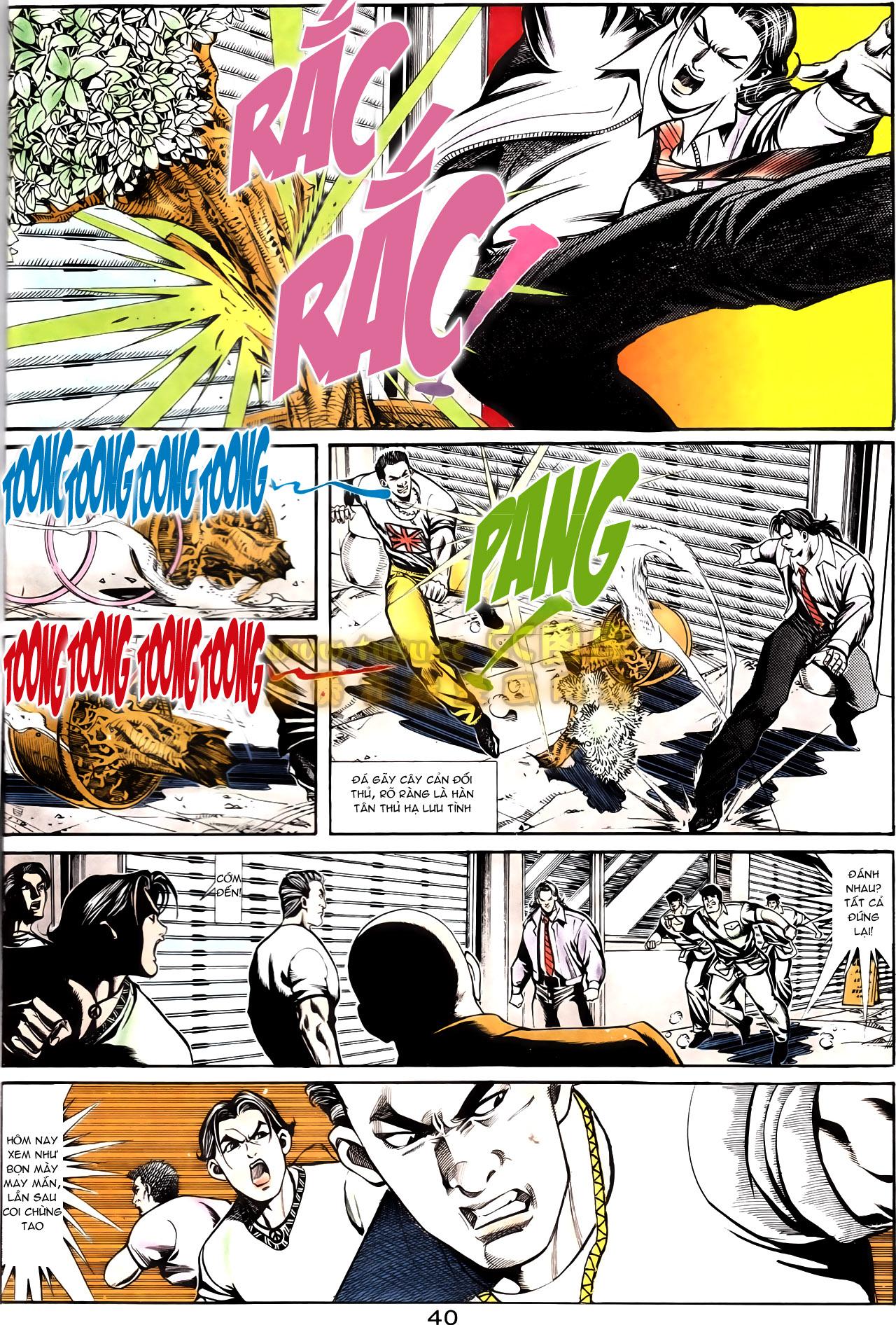 Người Trong Giang Hồ chapter 164: hạo nam chiến quạ đen trang 12