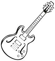 דף צביעה גיטרה