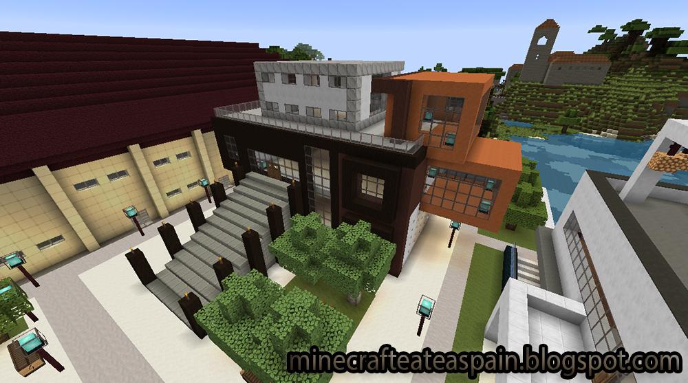 Minecrafteate casas modernas en minecraft for Casas modernas minecraft keralis