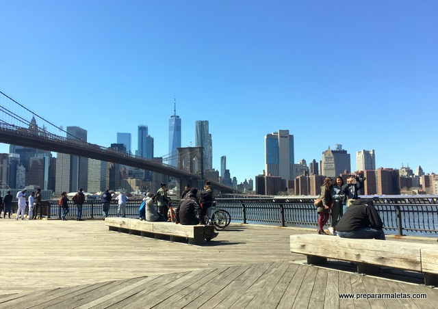 vistas de Manhattan desde DUMBO