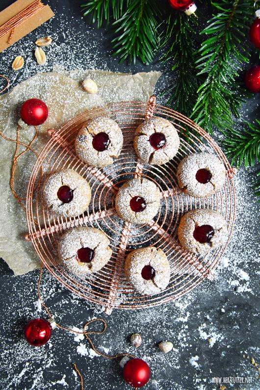Süße Erdnussbutter-Marmeladen-Kekse