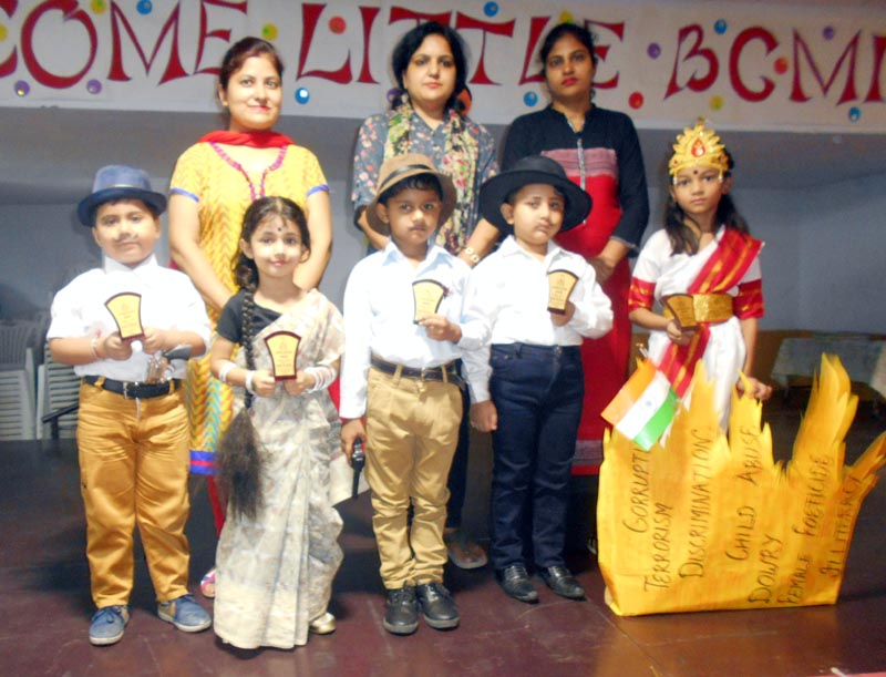 Winners with teachers during Role playing Competition at BCM Kindergarten