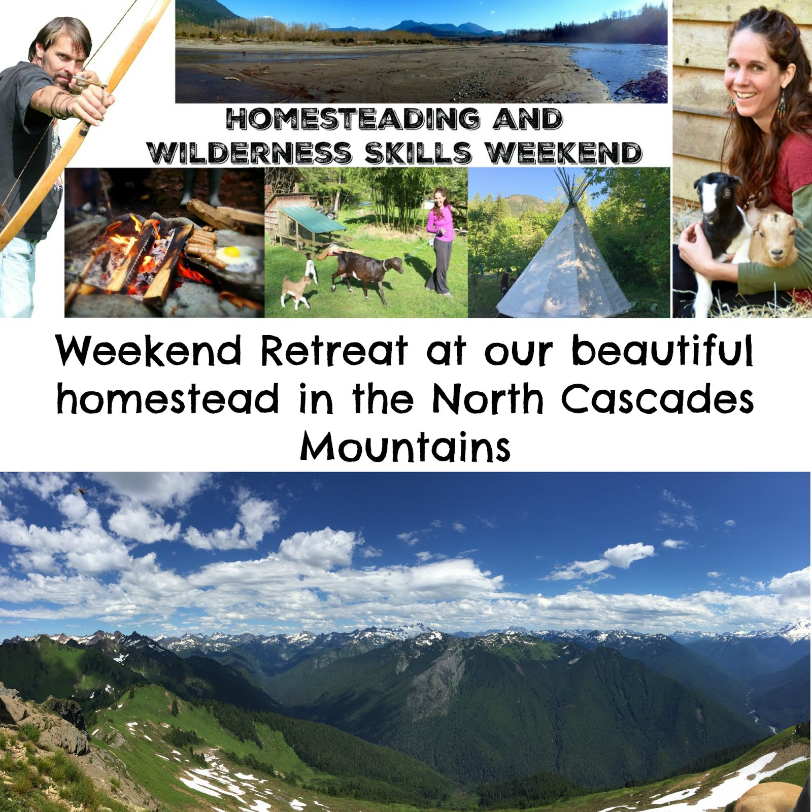 Homesteading Wilderness Weekend Retreat
