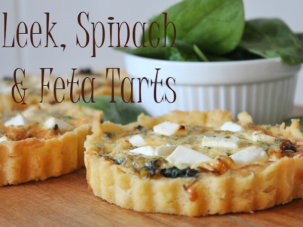 Leek, Spinach and Feta Tarts