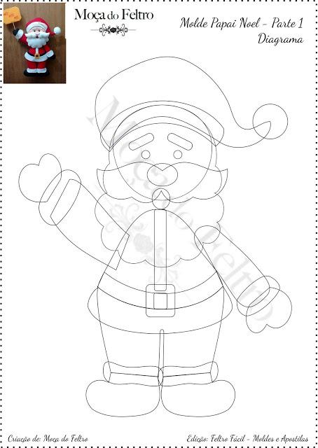 DIY - Decoração de Natal Com Feltro Super Fácil de Fazer Com Moldes 1