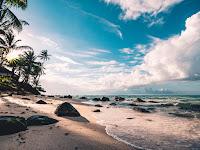 beach clouds daytime